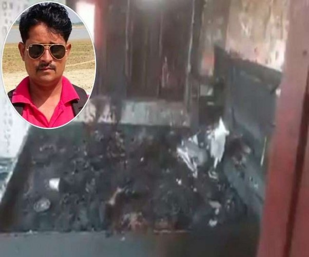 बलरामपुर में पत्रकार समेत दो की झुलसकर मौत, मरने से पहले प्रधान पर लगाया हत्या का आरोप; दो हिरासत में