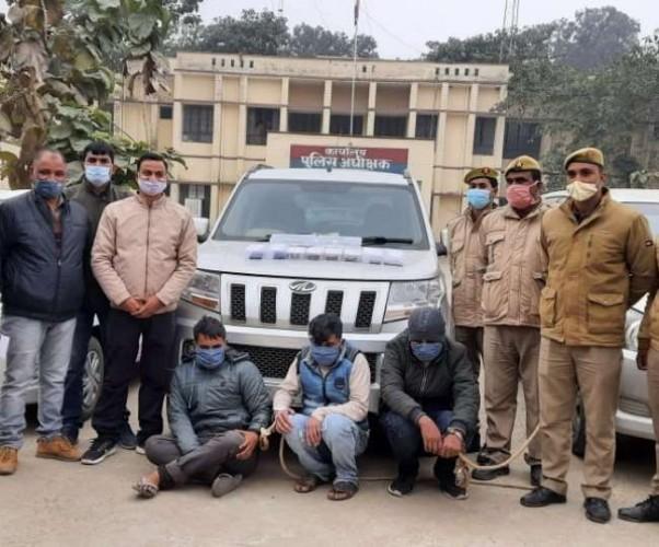 बलरामपुर में लग्जरी गाड़ियों से लूट करने वाले तीन बदमाश गिरफ्तार