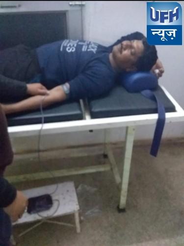 पुलिस आरक्षक पहलाद सिंह ने रात्रि के 3:00 बजे कड़कड़ाती ठंड में पहुंचकर किया रक्तदान , जच्चा-बच्चा को मिला नया जीवनदान