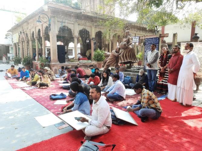 कबीर के भावों पर दो दिवसीय चित्रकला कार्यशाला का आयोजन