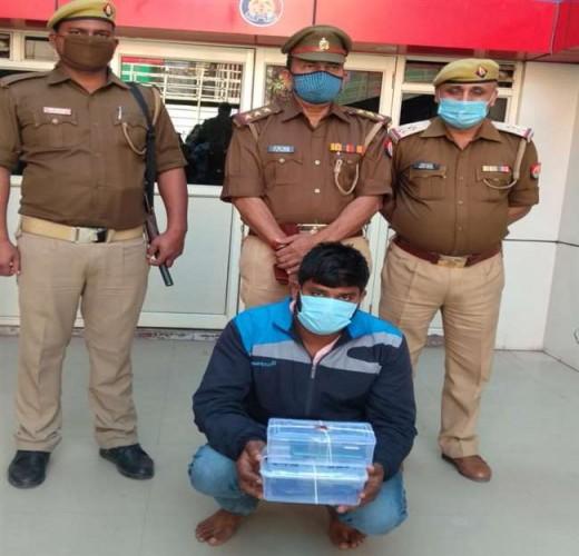 वाराणसी में रंगदारी मांगने के लिए 203 बार मोबाइल पर फोन करने वाला आरोपी गिरफ्तार