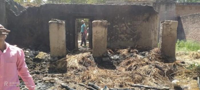 रायबरेली के खीरों खरगापुर में शॉट सर्किट से गाय की दर्दनाक मौत