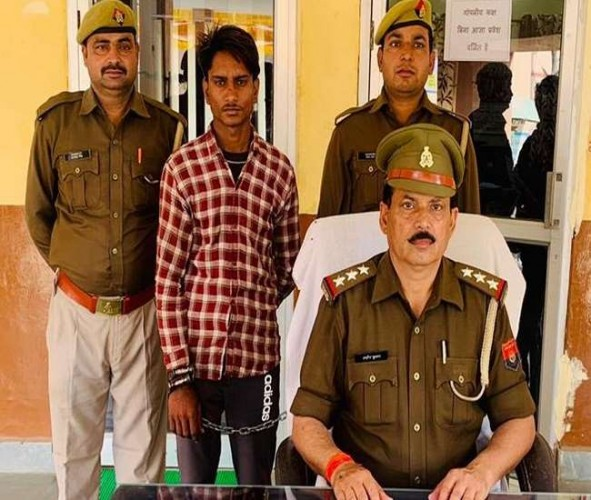 दलित किशोरी की अस्मत लूटने का आरोपित पकड़ा, भेजा गया जेल