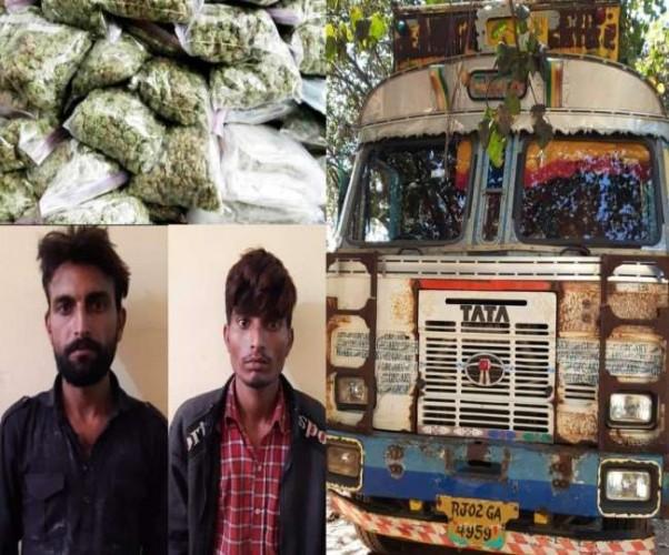 ललितपुर में पकड़ा उड़ीसा के कालाहाण्डी से लाया जा रहा 11 क्विंटल गांजा, मथुरा में होनी थी सप्लाई
