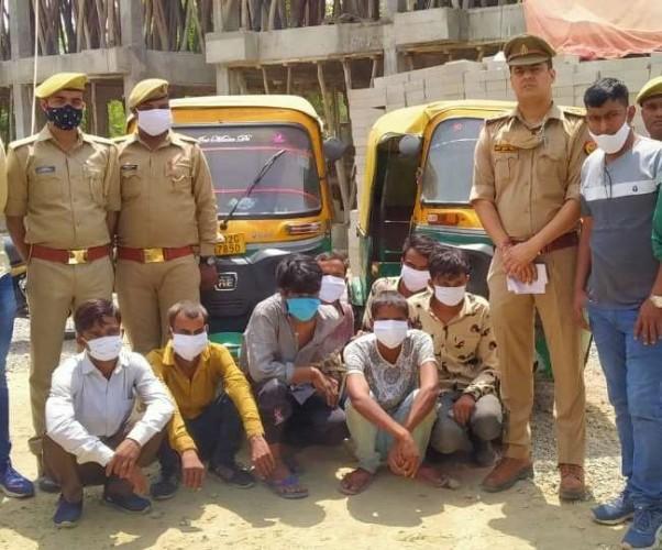 लखनऊ में ऑटो चालक गिरोह के सात बदमाश गिरफ्तार