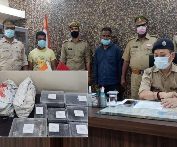 बलरामपुर में अवैध असलहा फैक्ट्री का भंडाफोड़, दो गिरफ्तार