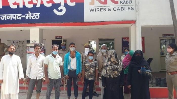 मेरठ के हर्रा में जमीन के बंटवारे को लेकर दो पक्षों में खूनी संघर्ष
