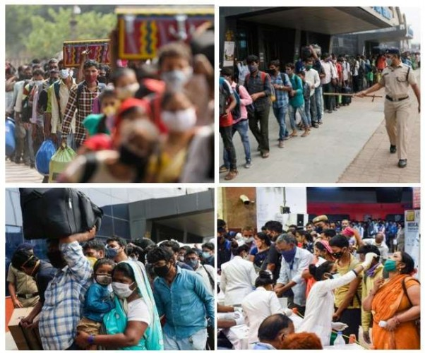 कोरोना की मार से बेजार कामगार, मुंबई-पुणे से लौट रहे लोगों में लॉकडाउन का खौफ