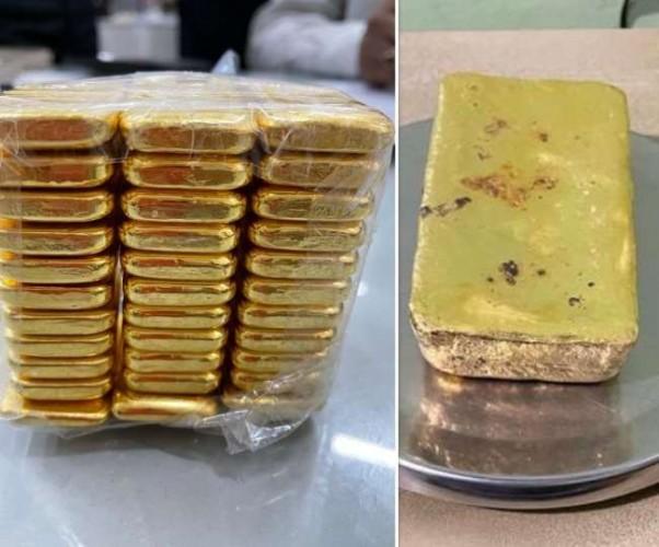 लखनऊ में विमान चेकिंग के दौरान सोने के बिस्कुट बरामद