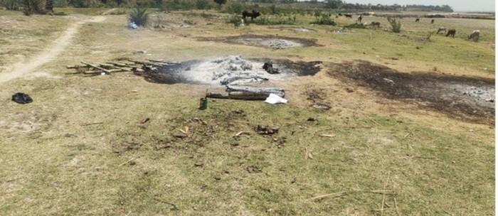 डलमऊ श्मशान घाट की गन्दगी फैला सकती क्षेत्र में संक्रमण ,जिम्मेदार मौन