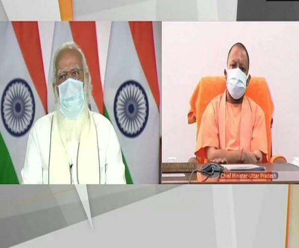 पीएम नरेंद्र मोदी जाना UP का हाल, वीडियो कांफ्रेंसिंग के जरिए CM योगी आदित्यनाथ से जुड़े