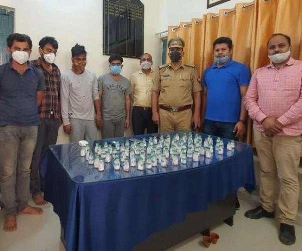 लखनऊ में रोटी-लंच बाक्स के नाम से बिक रही थी रेमडेसिविर, केजीएमयू-लॉरी और क्वीनमेरी से 10 मेडिकल स्टाफ गिरफ्तार