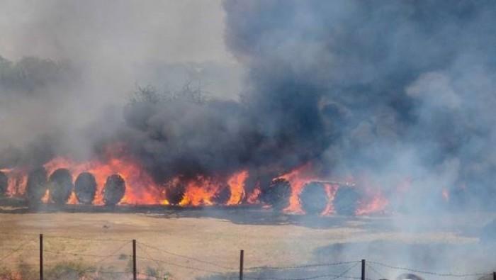 स्टोर में लगी भीषण आग, करोड़ों के केबल बाक्स जलकर स्वाहा