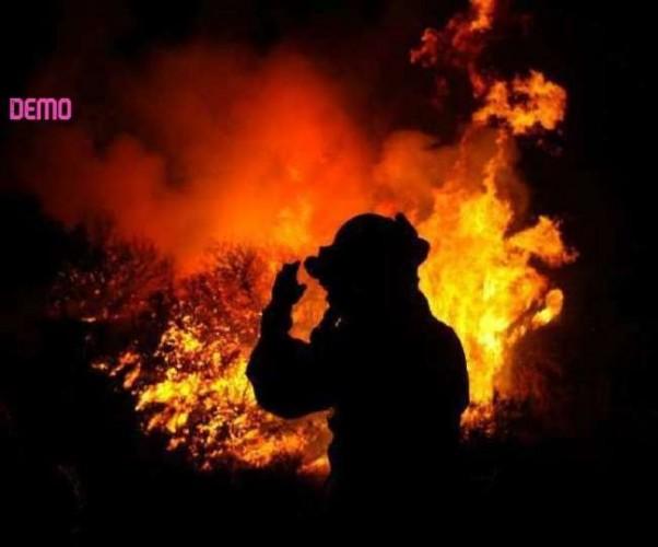 मेरठ में संदिग्ध परिस्थितियों में स्क्रेप के गोदाम में लगी आग