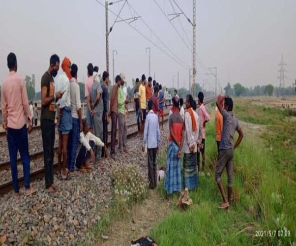 कौशांबी में ट्रेन की चपेट में आकर युवक की मौत, दिल्ली-हावड़ा रेलवे लाइन पर हुआ हादसा