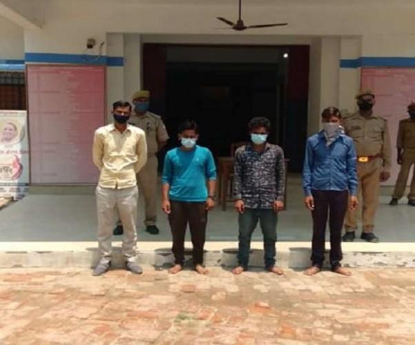 सीतापुर में पाकिस्तान जिंदाबाद की नारेबाजी में राष्ट्रद्रोह की धाराएं बढ़ीं, नवनिर्वाचित प्रधान व चार समर्थक गिरफ्तार