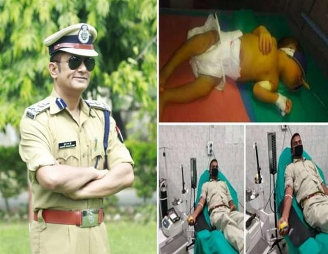 आजमगढ़ डीआइजी सुभाष चंद्र दुबे की पहल पर मासूम को बचाने के लिए खून देने दौड़ पड़े तीन सिपाही