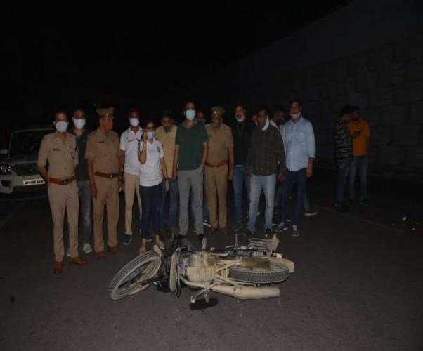 लखनऊ में पुलिस और बदमाशों के बीच मुठभेड़, नौ बदमाश गिरफ्तार