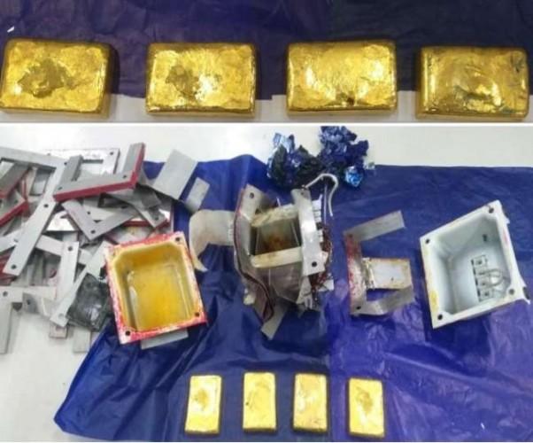 लखनऊ एयरपोर्ट पर कस्टम ने पकड़ा 1.17 करोड़ का सोना
