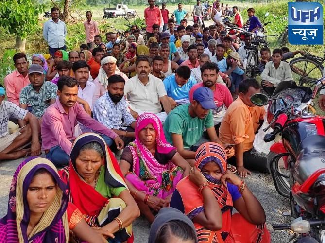 युवक की डूबने से मौत,संजीव कुमार मुन्ना ने किया रोड जाम