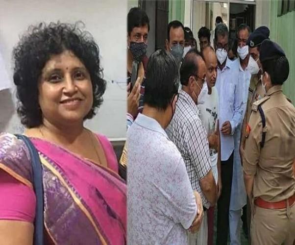 राष्ट्रपति के कानपुर आगमन के दौरान जाम में फंसी महिला उद्यमी ने तोड़ा दम, पुलिस कमिश्नर ने मांगी माफी