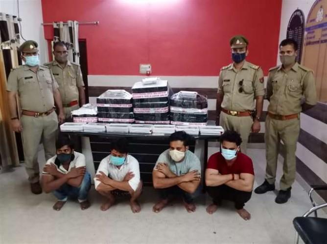 अलीगढ़ में पकड़ा गया फर्जी अंतरराज्यीय काल सेंटर, 11 पकड़े