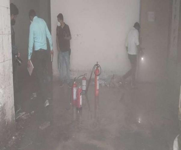 लखनऊ के लोहिया संस्थान के एसी प्लांट में लगी आग