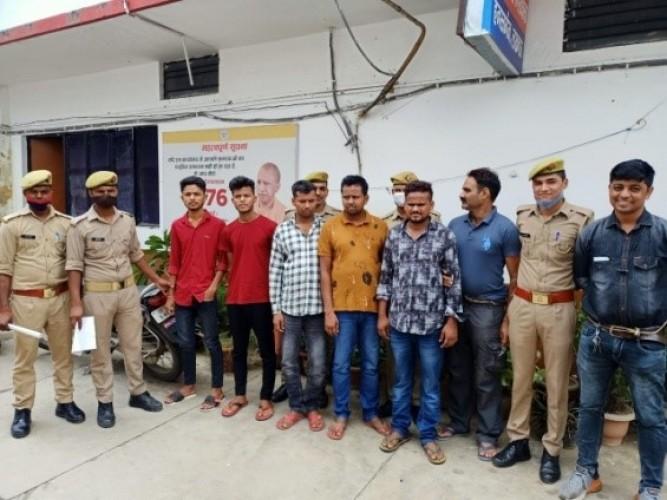 हजरतगंज की संयुक्त पुलिस टीम ने साइबर अपराधियों को किया  गिरफ्तार