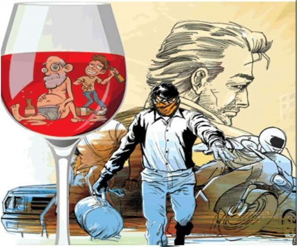 रोडवेज बस में शराबियों का उत्पात, लखनऊ में पुलिस ने चेतावनी देकर छोड़ा