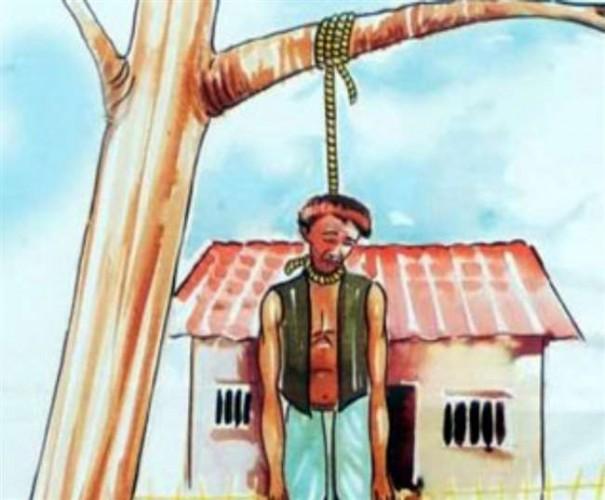 पचास हजार रुपये का कर्ज अदा कर पाने पर किसान ने दी जान